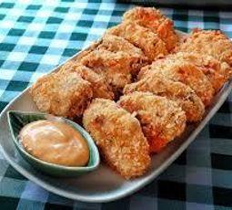 alitas de pollo frías empanizadas en el horno