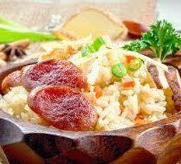 arroz com linguiça toscana friato na pressão