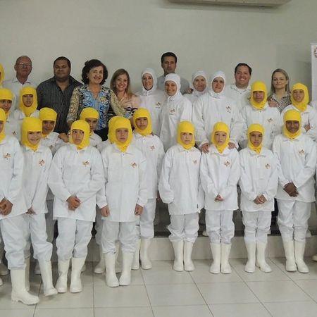 Cerimônia de inauguração do projeto Friato nas Escolas