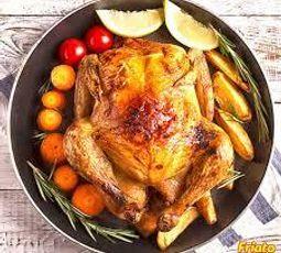 frango friato assado com batatas