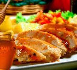 Pechuga de pollo con miel