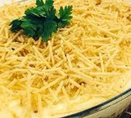 Pechuga de pollo fría con queso al horno