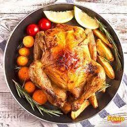 pollo asado frío con patatas