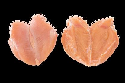 Pechuga entera sin hueso y sin piel sin el filete interno