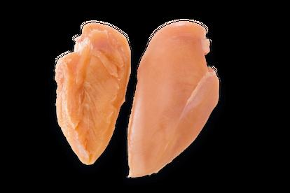 Pechuga dos médio sin hueso sin piel sin el filete interno