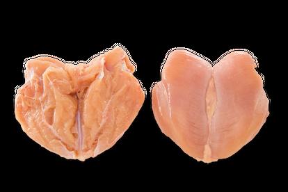 Pechuga entera sin hueso y sin piel con el filete interno